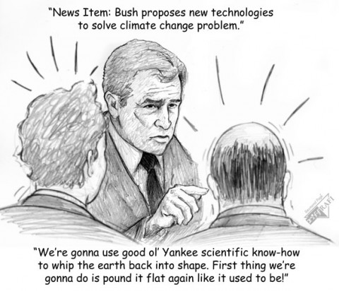 Bush proposes new technologies to solve climate change